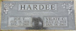 Vilate <I>Taylor</I> Hardee