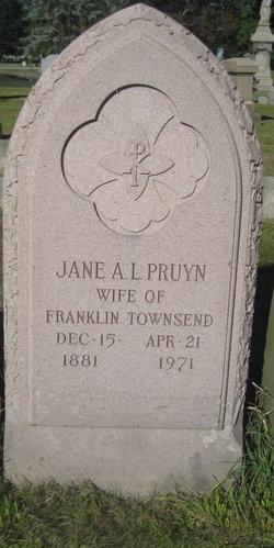 Jane Ann Lansing <I>Pruyn</I> Townsend