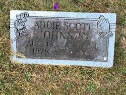Addie <I>Scott</I> Johnson