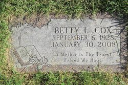 Betty Levina <I>Helm</I> Cox
