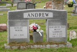 """Elizabeth Inez """"Betty"""" <I>Garriott</I> Andrew"""