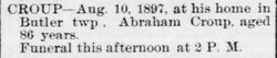 "Abraham ""Abram"" Croup"