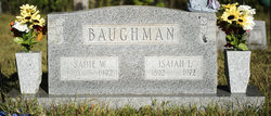 Sadie Allistene <I>Willard</I> Baughman