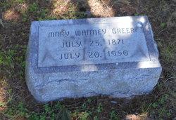 Mary Alice <I>Whitney</I> Greer