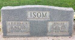 "Josephine Elizabeth ""Lizzie"" <I>Ballard</I> Isom"