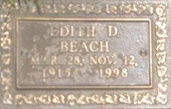 Edith D. <I>Herring</I> Beach