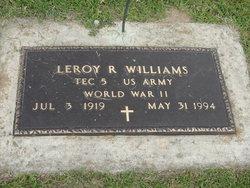 "Leroy R ""Roy"" Williams"