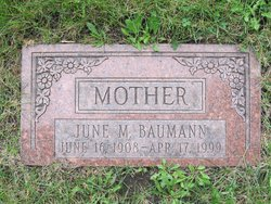 June Marie <I>Hall</I> Baumann