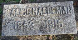 Sarah Alice <I>Addams</I> Haldeman