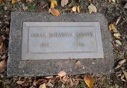 Sarah Elizabeth <I>Brown</I> Abbott