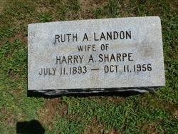 Ruth A <I>Landon</I> Sharpe
