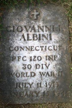 PFC Giovanni L Albini