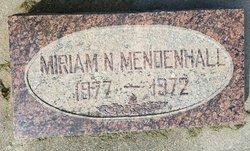 Miriam <I>Norris</I> Mendenhall