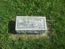 Mary <I>Williams</I> Underwood