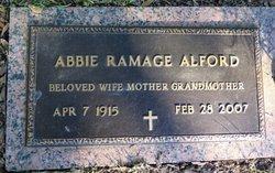 Abbie <I>Ramage</I> Alford