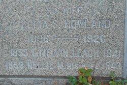 Celia S. <I>Howland</I> Leach