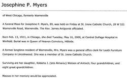 Josephine P. Myers