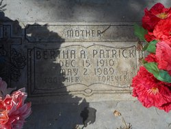 Bertha A. <I>Baker</I> Patrick