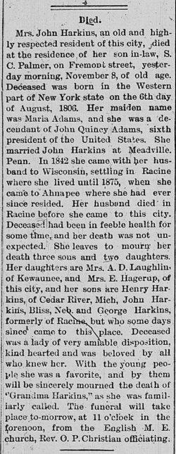Marie <I>Adams</I> Harkins