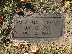 I. M. Anna Luedke