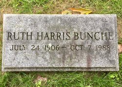Ruth <I>Harris</I> Bunche