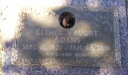 Esther <I>Chapman</I> Adams