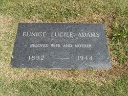 Eunice Lucile <I>Morse</I> Adams