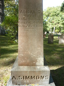 Abigail D. <I>Simmons</I> Simmons