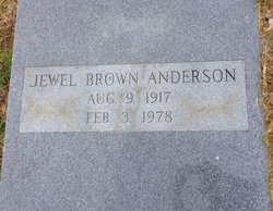 Jewell <I>Brown</I> Anderson