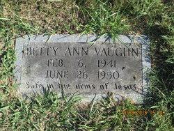 Betty Ann Vaughn
