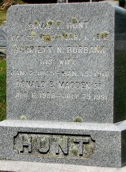 Harriet N <I>Burbank</I> Hunt