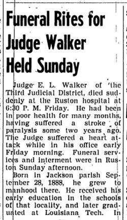 Judge Ezriah Lee Walker
