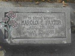 Harold Elmer Paxton