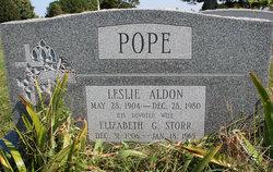Elizabeth G <I>Storr</I> Pope