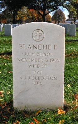 Blanche E Culloton