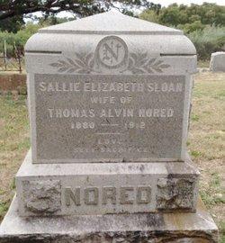"Sarah ""Sallie"" <I>Sloan</I> Nored"