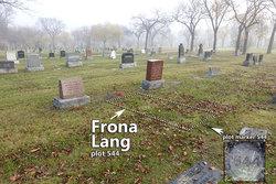 Frona Bernice <I>Mason</I> Lang