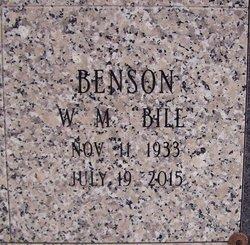 "William M ""Bill"" Benson"