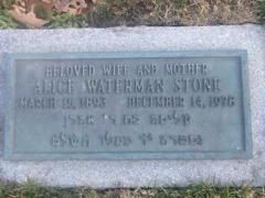 Alice Ashley <I>Waterman</I> Stone