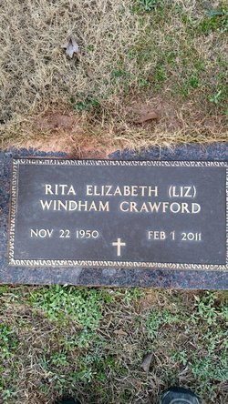 "Rita Elizabeth ""Liz"" <I>Windham</I> Crawford"
