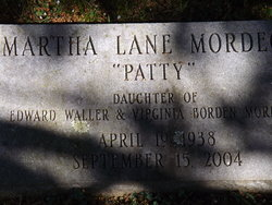 "Martha Lane ""Patty"" Mordecai"