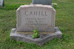 Bessie <I>West</I> Cahill