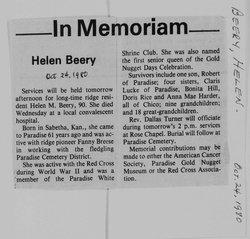 Helen M <I>Reber</I> Beery