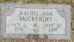 Rachel Ann <I>Plock</I> McCreight