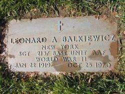 Sgt Leonard A. Balkiewicz