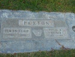 Phyllis M. <I>Hefner</I> Paxton