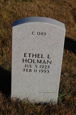 Ethel L <I>Herren</I> Holman