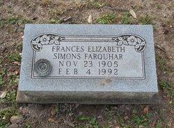 Frances Elizabeth <I>Simons</I> Farquhar