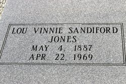 Lou Vinnie <I>Sandiford</I> Jones