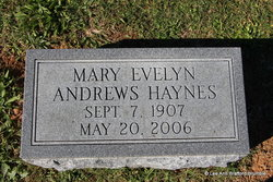 Mary Evelyn <I>Andrews</I> Haynes